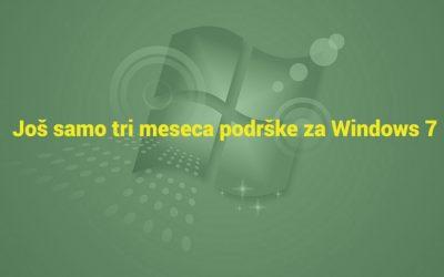 Još samo tri meseca podrške za Windows 7